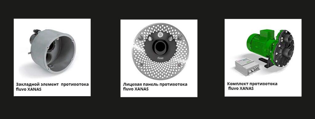 Противоток FLUVO XANAS c механическим управлением 8