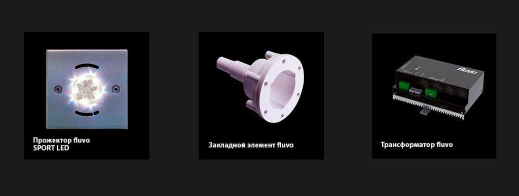 Подводные прожектора FLUVO SPOT LED, матовый, 105х105 мм. 4