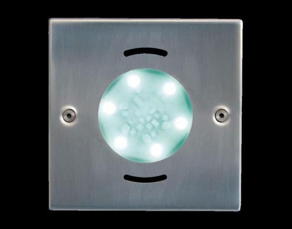 Подводные прожектора FLUVO Standart LED, матовые, 105х105 мм. 1