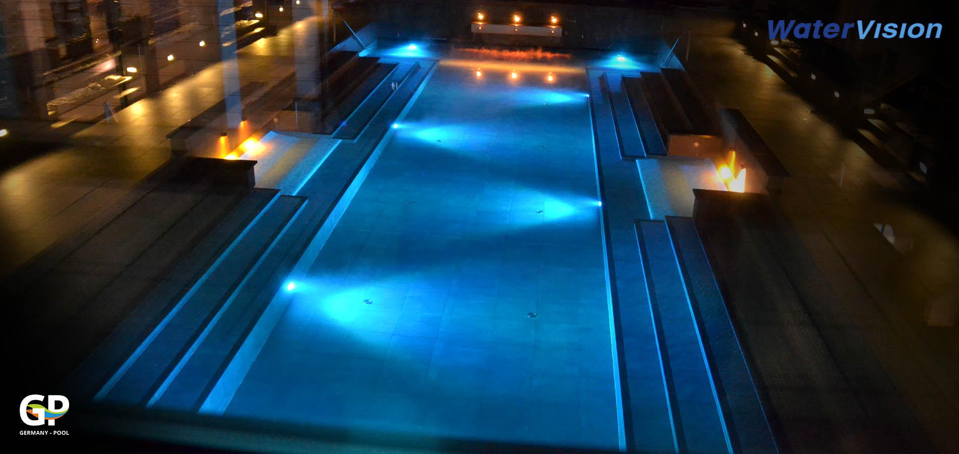 Подводное освещение для бассейнов 10