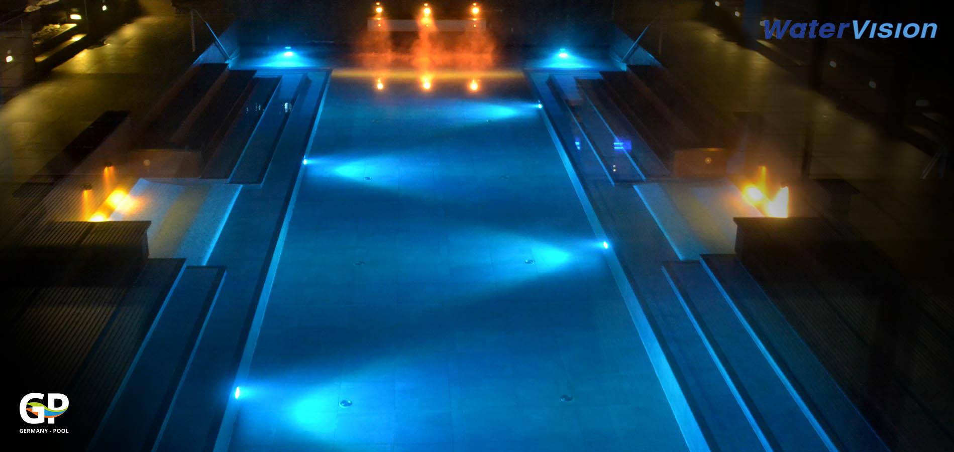 Подводное освещение для бассейнов 11