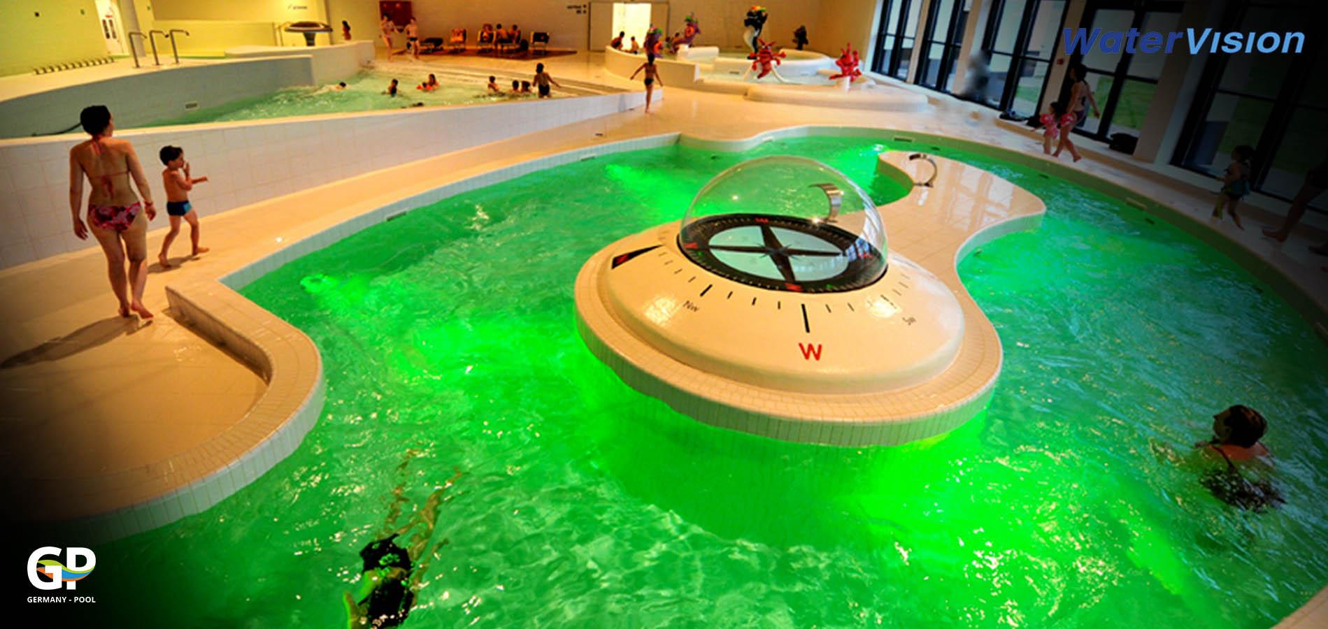 Подводное освещение для бассейнов 12