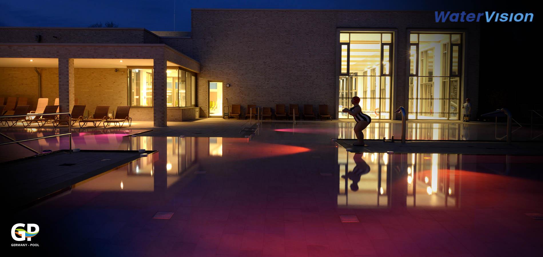 Подводное освещение для бассейнов 8