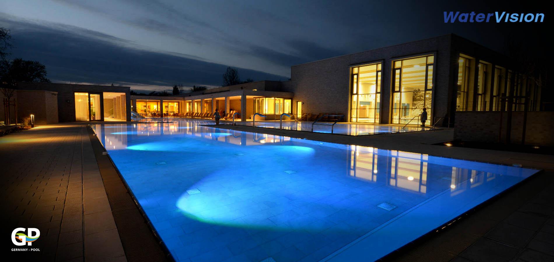 Подводное освещение для бассейнов 9